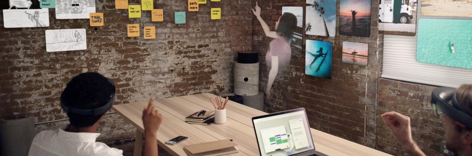 Digital samhandling med avatarer Foto av Spatial Collaborative Room