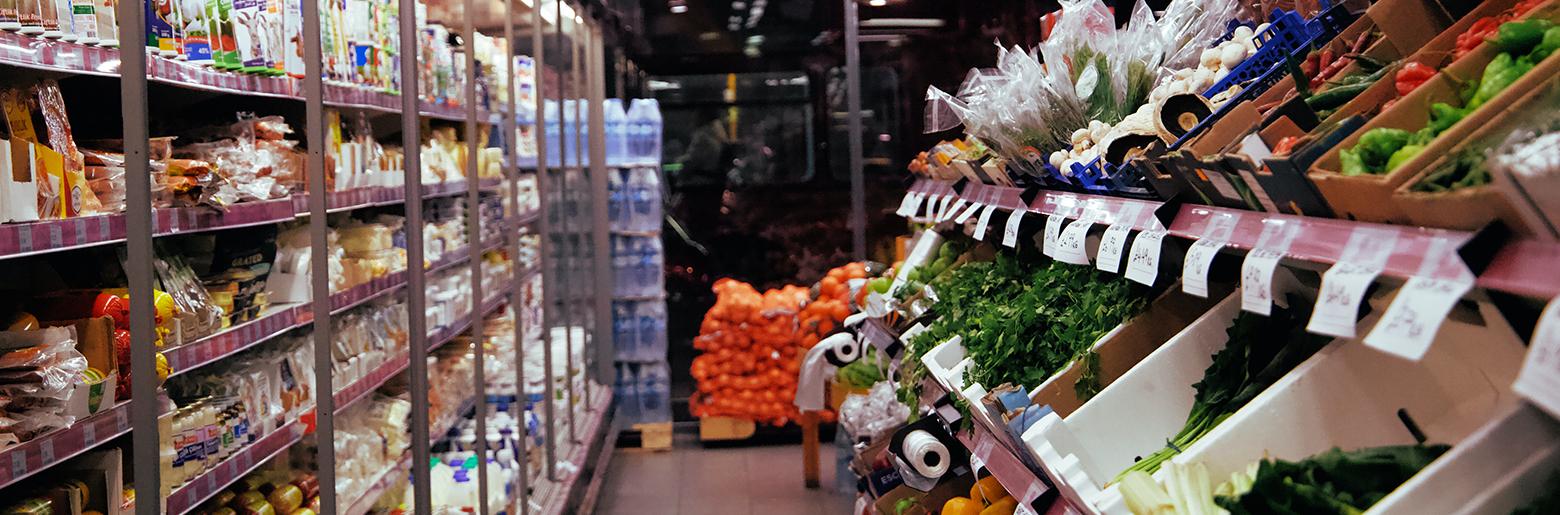 Innredning i en matvarebutikk