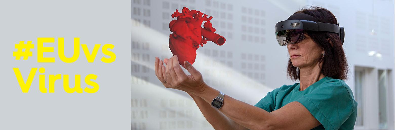 EUvsVirus_Holocare_lege holder hjerte i hånden