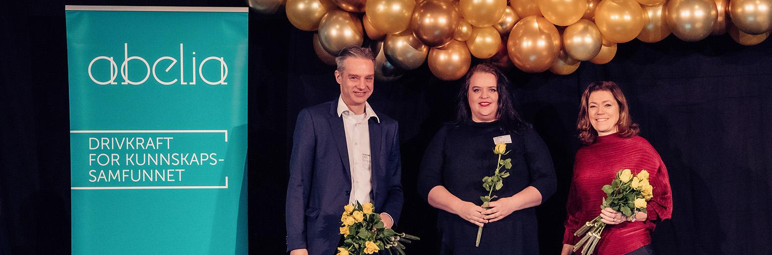 Prisutdeling: Øystein Eriksen Søreide, Merethe Stave og Kristin Skogen Lund