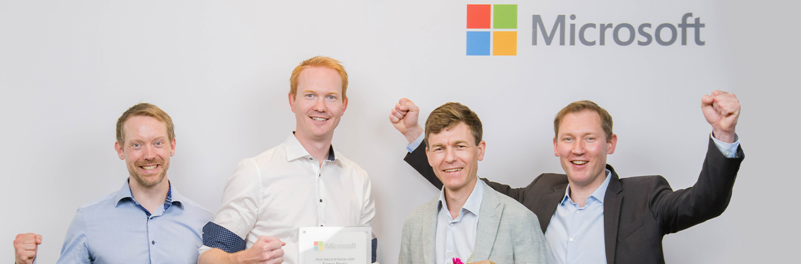 Sopra Steria medarbeidere mottar Microsoft-pris