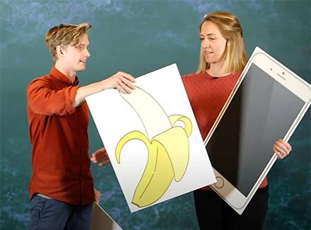 Bilde fra filmen om bilder av bananer og meloner
