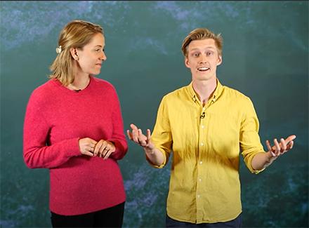 Bilde fra filmen om hva voksne skjønner om nett