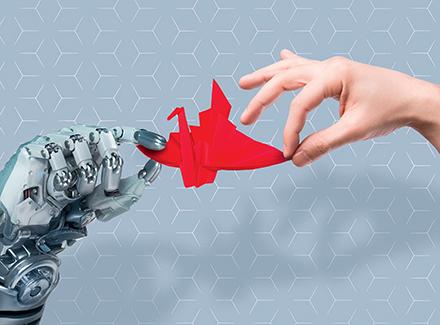 Robot og mennenske