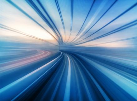 Illustrasjon: Blur motion-bilde av toglinje