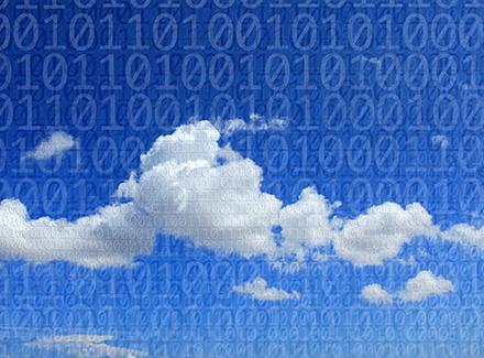 Illustrasjon av skyløsninger_data i skyen