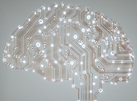 Illustrasjon: hjerne med lystråder