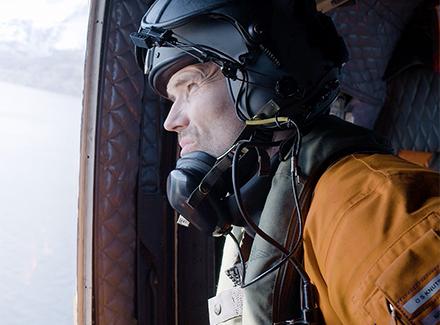 Mann i helikopter (Barentswatch)