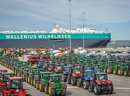 Foto fra logistikkselskapet Wallenius Wilhelmsen_lastebåt