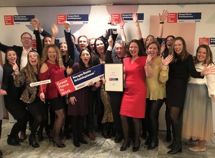 Sopra Steria er kåret til Norges beste arbeidsplass for tredje året på rad
